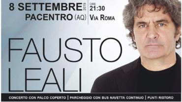 8 Settembre 2019, Fausto Leali in concerto a Pacentro.