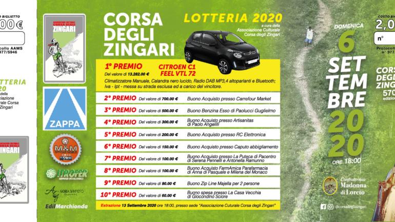 Lotteria Corsa degli Zingari 2020