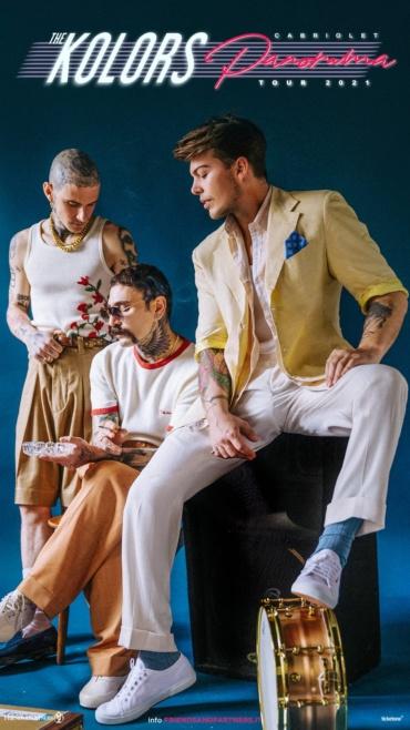 """THE KOLORS LIVE a PACENTRO (AQ) il 5 SETTEMBRE 2021 in occasione della """"Corsa degli Zingari"""""""